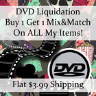 New Movie DVD Liquidation Sale  Titles W Z 625  Buy 1 Get 1 flat ship fee