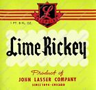 VINTAGE LIME RICKEY BEVERAGE LABEL STATEN ART GAME ROOM MAN CAVE PRINT