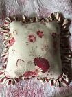 Waverly RUFFLED PILLOW VINTAGE NORFOLK ROSE GARDEN ROOM GENERAL STORE STRIPE