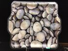 Peggy Karr Fused Glass 18 Square Tray River Rocks