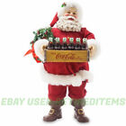 Kurt Adler Fabriche COCA COLA SANTA Claus Coke Bottle Crate105 Inch  Christmas