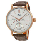 IWC Portofino Silver Dial 18kt Rose Gold Mens Watch IW516102