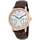 A Lange and Sohne 1850 Up / Down Silver Dial Brown Leather Mens Watch 234.032