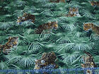 3 Yards Quilt Cotton Fabric Windham Jungle Minis Leopard Jungle Foliage Packed