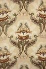 Antique French Art Nouveau printed cotton fabric ~ large scale design material