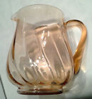 Beautiful Unmarked Light Pink Glass Pitcher