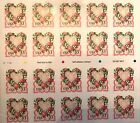 VICTORIAN LOVE SHEET OF 20 SELF ADHESIVE 33 cents 1999 STAMPS