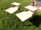 Mid Century Modern Vintage Step End Tables Laminate Formica Set Tiered Table