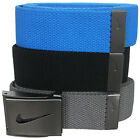 Nike Golf Mens 3 in 1 Web Pack Belts One Size Fits Most