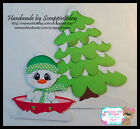 Snowman fun sled Premade Paper piecing set  by scrappintoday