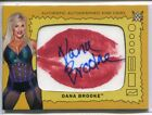 2017 TOPPS WWE HERITAGE DANA BROOKE AUTOGRAPH KISS CARD 01 10 FIRST NUMBER