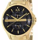 ARMANI EXCHANGE MEN'S BLACK DIAL GOLD TONE WATCH,  AX2122 NEW IN BOX WITH TAGS
