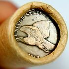 1858 Flying Eagle  Lincoln Wheat Penny on Ends of a Wheat Cent Roll 8524