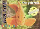 TY Beanie Babies BBOC Card - Series 1 Retired (GOLD) - GOLDIE the Goldfish -NM/M