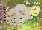 TY Beanie Babies BBOC Card - Series 1 Retired (GOLD) - TRAP the Mouse - NM/Mint