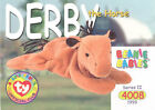 TY Beanie Babies BBOC Card - Series 2 Common - DERBY the Horse (No Star) - NM/M