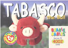 TY Beanie Babies BBOC Card - Series 2 Common - TABASCO the Bull - NM/Mint