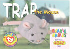 TY Beanie Babies BBOC Card - Series 2 Common - TRAP the Mouse - NM/Mint