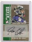 2008-09 ITG Between The Pipes Jonathan Quick Future Stars Auto Card