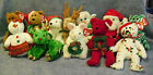 w-f-l TY BEANIES CHRISTMAS REINDEER TEDDY MOUSE Selection Stuffed Toy