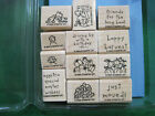 RETIRED Stampin Up Loads of Love Accessories Wood Mount Stamps P
