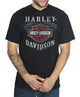 Harley Davidson Mens Sinful BS Engine V Neck Black Short Sleeve Biker T Shirt