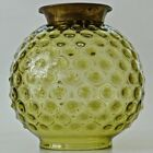 Antique Ball SHADE HOBNAIL Amber GWTWBanquet Piano Hanging ParlorOil Lamp A+++