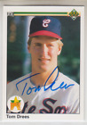 Autographed 1990 Upper Deck Tom Drees - White Sox
