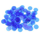 100x PRO Count Bingo Chips Markers for Party Club Fun Bingo Cards Parts Blue