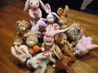 w-f-l Ty Beanie Babies Rabbit Easter Free Selection Egg Stuffed Toy