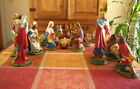 12 Scale Vintage Nativity Paper Mache set Fontanini Made in Italy 12 pieces