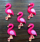 DIY 5 25 50pcs Flamingo Flatback Resin Cabochon Scrapbooking Crafts