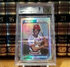 Lou Brock 2002 Topps Archives Reserve 1974 Cardinals Refractor Auto #95 BGS 9