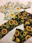 Gymboree 5 Girls Blue Sunflower Top Pants Outfit Set