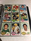 1976 TOPPS FOOTBALL NEAR COMPLETE SET 400 528 NO PAYTON VG-Ex BV$100