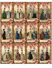 SET OF 12 VICTORIAN LADIES SCRAPBOOK CARD CRAFT EMBELLISHMENTS HANG GIFT TAGS