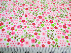 Discount Fabric Quilting Cotton Pink and Green Floral 206J