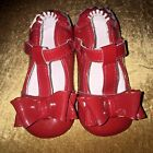 Robeez Girls Red Patent Leather t Strap Holiday Shoes US Size 12 18 Months EUC