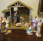 Classic Nativity Set Christmas Noel Celebrate 12 Piece Wisemen Mary Joseph NEW