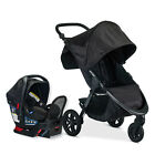 Britax 2018 B-Free Stroller & Endeavours Car Seat Travel System Midnight New!!