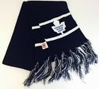 Vintage Toronto Maple Leafs Embroidered Logo Blue  White Fringe Scarf