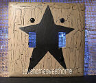 Black Star  Double Light Switch Plate ~ Country Decor
