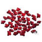 100PCS Red Butterfly Glass Crystal Charms Spacer Loose Bead Jewelry Making H76