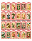 SET OF 24 125X25 FAIRIES GNOME FLORAL 20 SCRAPBOOK CARD HANG GIFT TAGS