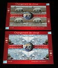 UN GENEVA 492 493 2008 CLIMATE CHANGE MNH SHEETS OF 4 NICE LQQK