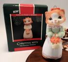 Hallmark Ornament 1989  Christmas Kitty Cat #1 Porcelain