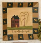 PRIMITIVE  HOME DECOR  Live Laugh Love - Plate Square~ COUNTRY ~ DECORATIONS