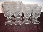 SET ANCHOR HOCKING WEXFORD WINE WATER GLASSES GOBLETS (8)