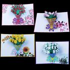 3D Pop Up Rose Flowers Greeting Card Christmas Birthday New Year Invitation