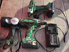 Hitachi Drill Set Combi Drill, Impact Driver & Torch 2X Batteries & Charger
